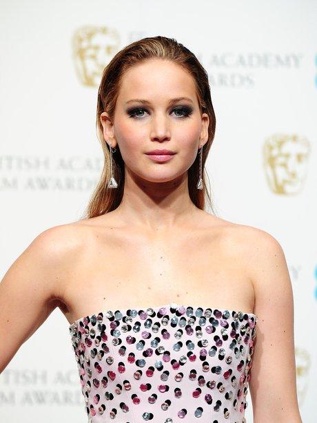 Jennifer Lawrence at the BAFTAs 2013