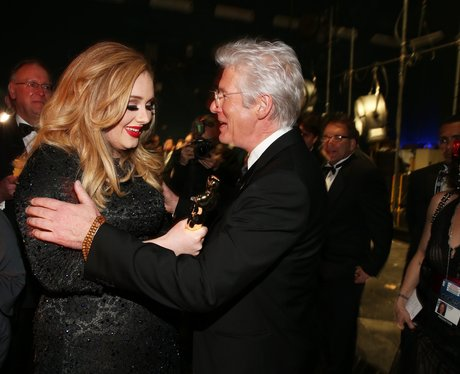 Adele and Richard Gere hug at the Oscars 2013