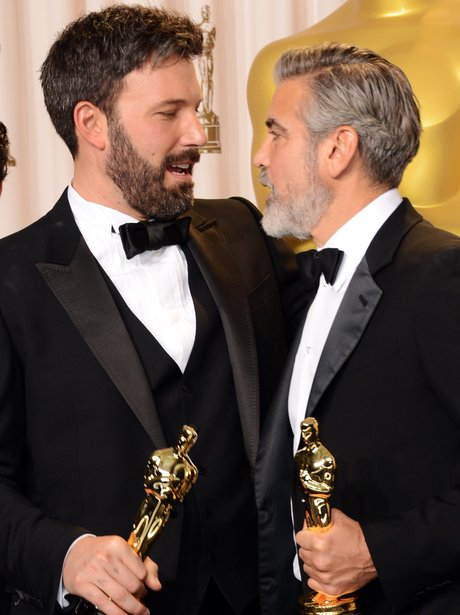 Ben Affleck and George Clooney at the Oscars 2013