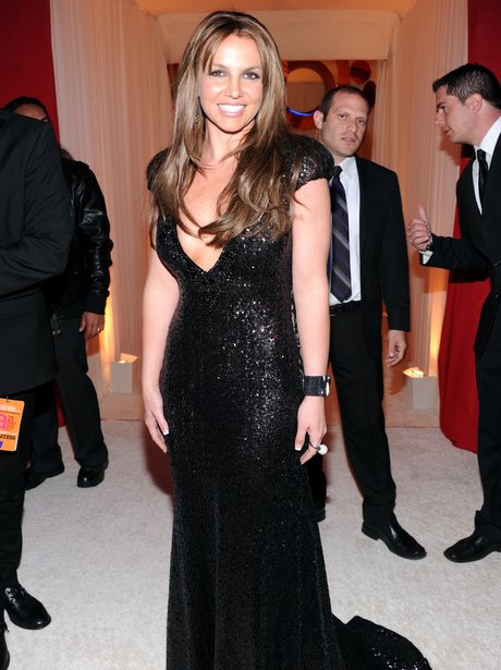 Britney Spears Elton John AIDS Foundation Oscars Party