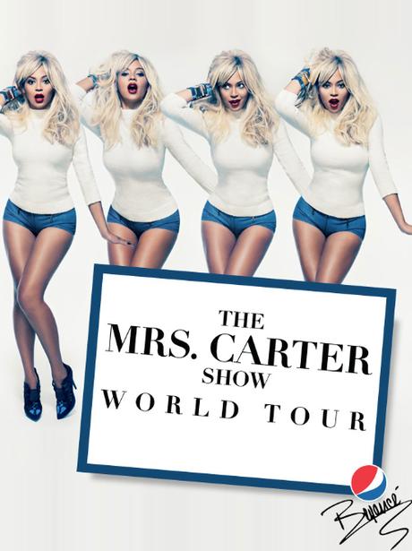 Beyonce Mrs. Carter Tour Poster