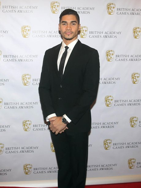 Louis Smith on the red carpet