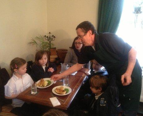 School Dinners At Local Pub