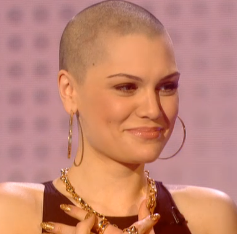 jessie j with a shaved head