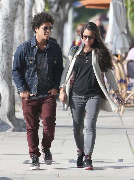 Bruno Mars and girlfriend Jessica Caban