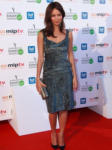 Thansie Newton attends MIPTV in Cannes
