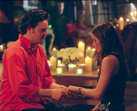 Chandler and Monica get engaged
