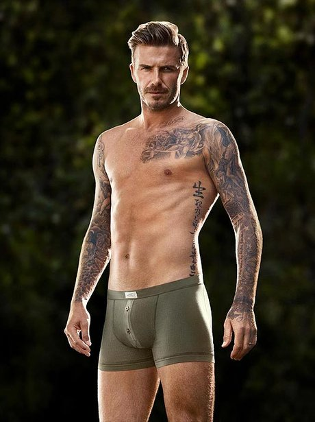 david beckham in green underpants