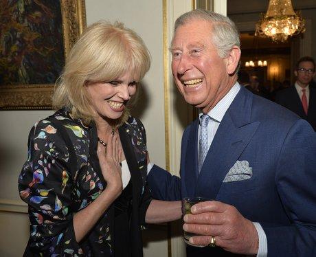 Prince Charles and Joanna Lumley