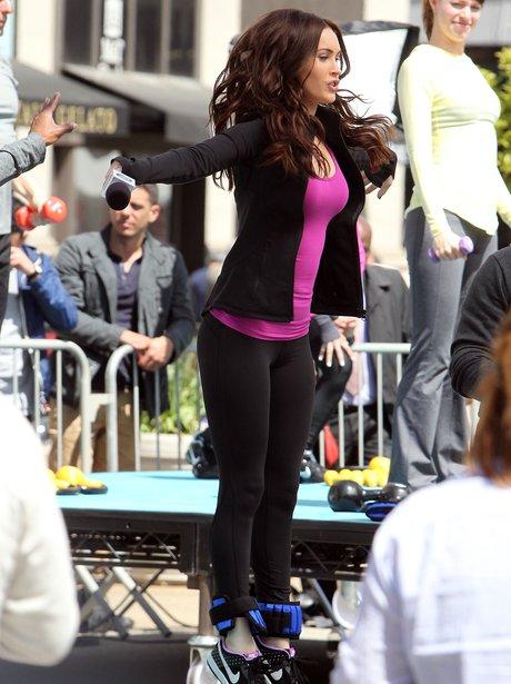 Megan Fox on set