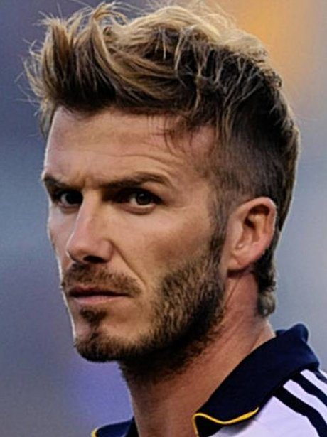 The top ten hairstyles for men as modelled by david beckham heart david beckham with a quiff urmus Images