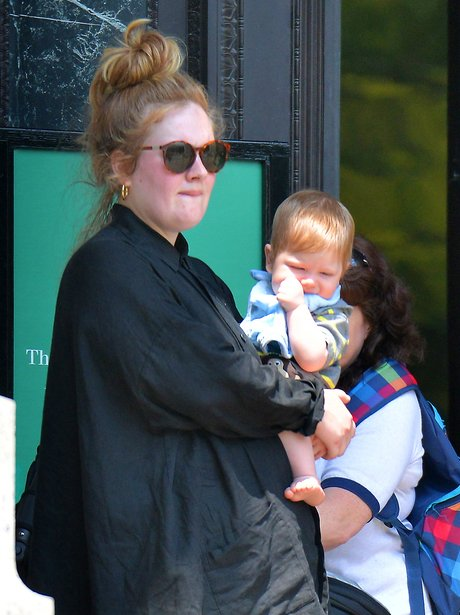 Adele with her baby