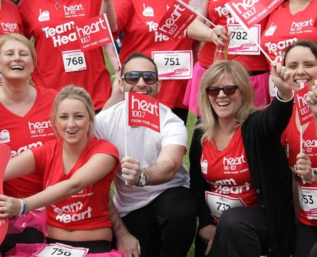 Team Heart at Sutton Coldfield Race for Life