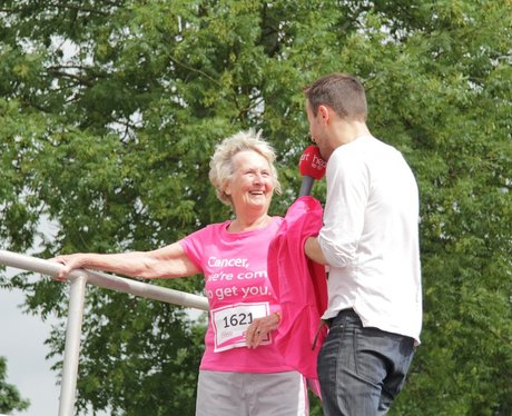 Snapped from the stage at Coventry Race for Life