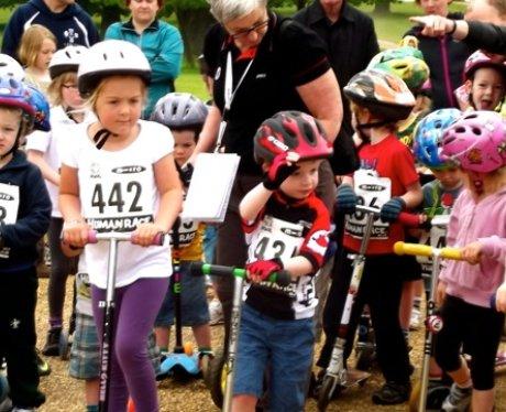 The Scootathlon at Cycletta Bedfordshire