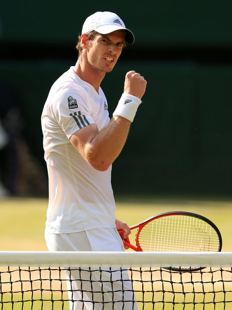 Andy Murray at Wimbledon 2013 final