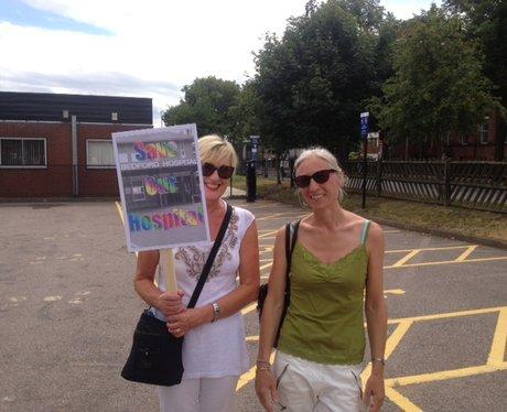 Bedford Hospital Protest