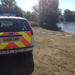 Lake at UEA after body found