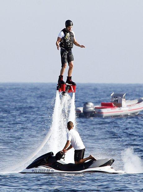 lift leonardo dicaprio shoots up into the air as he