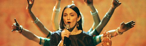 Madonna performing at the 1998 VMAs