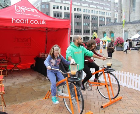 Heart's Smoothie Bike at Birmingham International