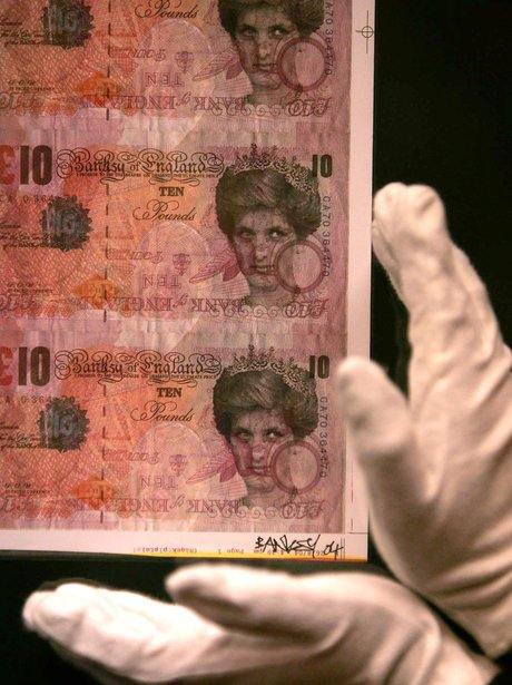 Banksy In Pictures Di Faced Tenners