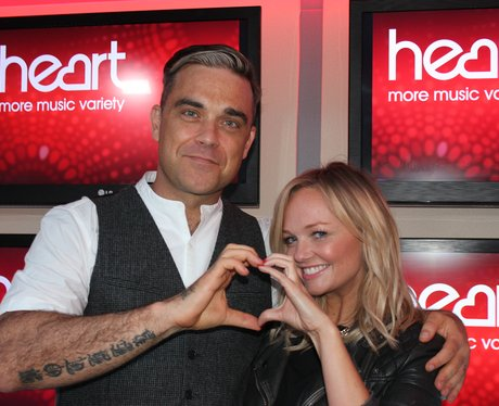 Emma Bunton Gives it some Heart with Robbie Williams