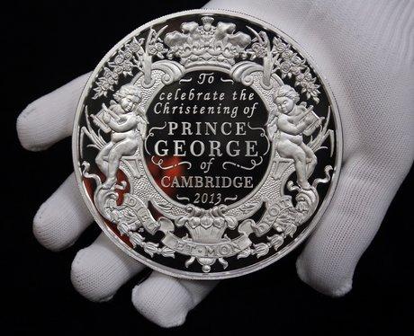 Prince George commemorative silver coin