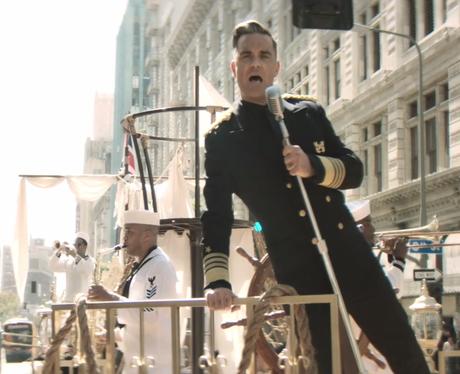 Robbie Williams sings 'Go Gentle'