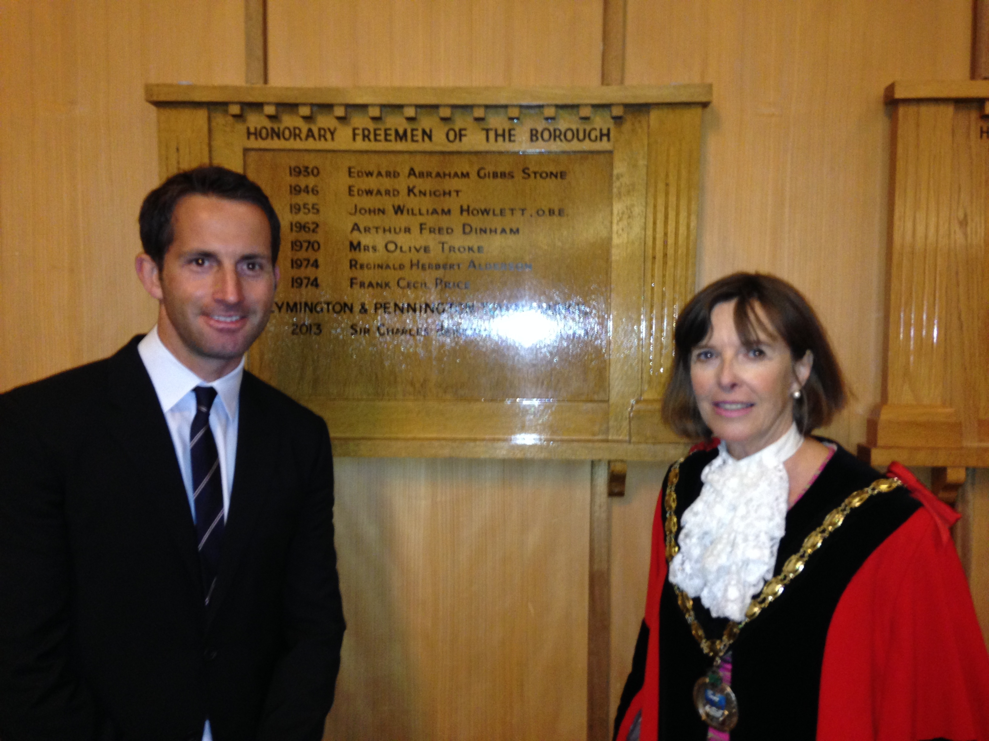 Ben Ainslie awarded Freedom of Lymington