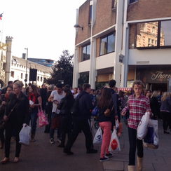 Cambridge Grand Arcade Evacuated