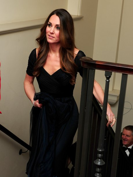 Kate Middleton in a black dress