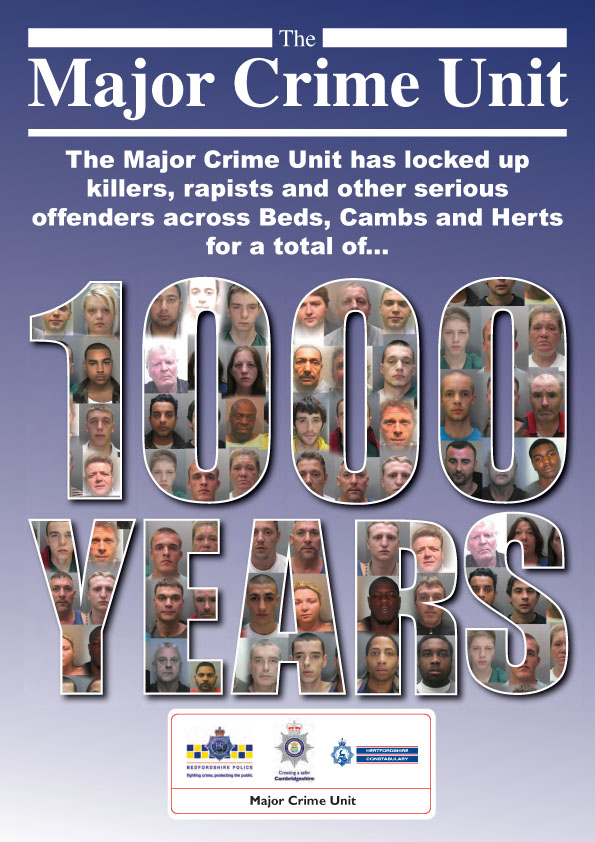 Major Crime Unit Poster Cambs Police