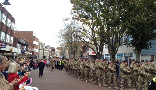 army medics are welcomed home in Gosport