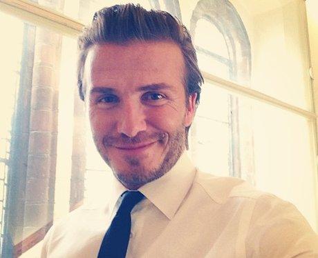 David Beckham with a quiff