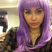 Image 9: Miley Cyrus in a purple wig for Halloween