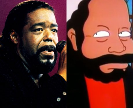 Barry White and his cartoon