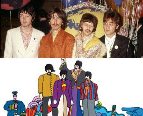 The Beatles and their cartoon