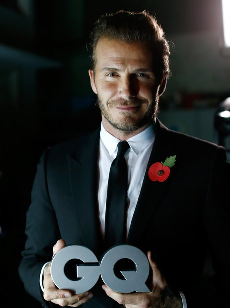 David Beckham in a black suit