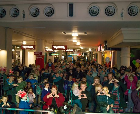 Castle Mall Norwich Christmas Lights 2013