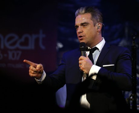 robbie williams onstage