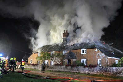 Brockenhurst thatched cottage fire 3