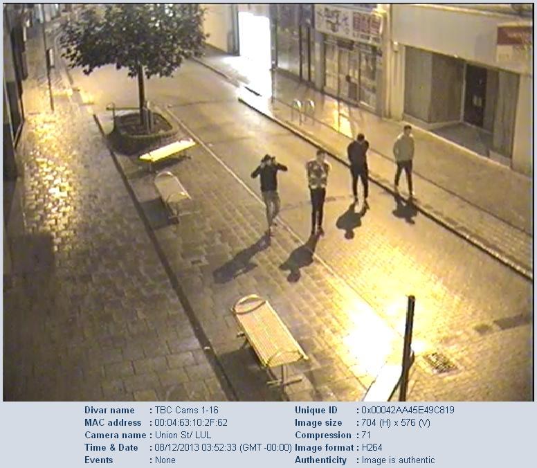 CCTV of 4 men in torquay