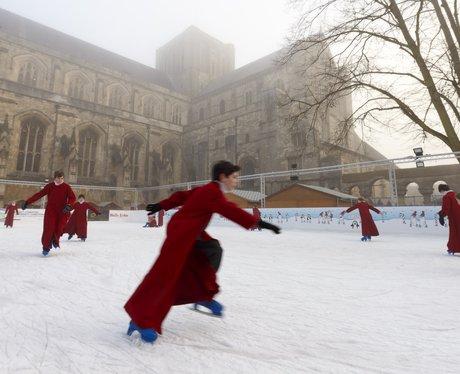 choir boys skating