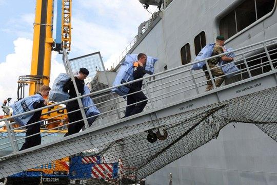 HMS Illustrious Christmas parcels