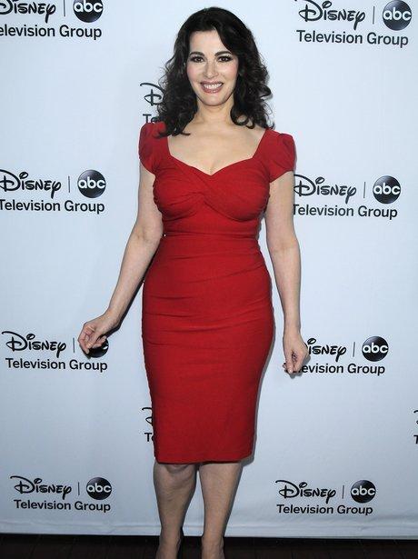 nigella lawson in red dress