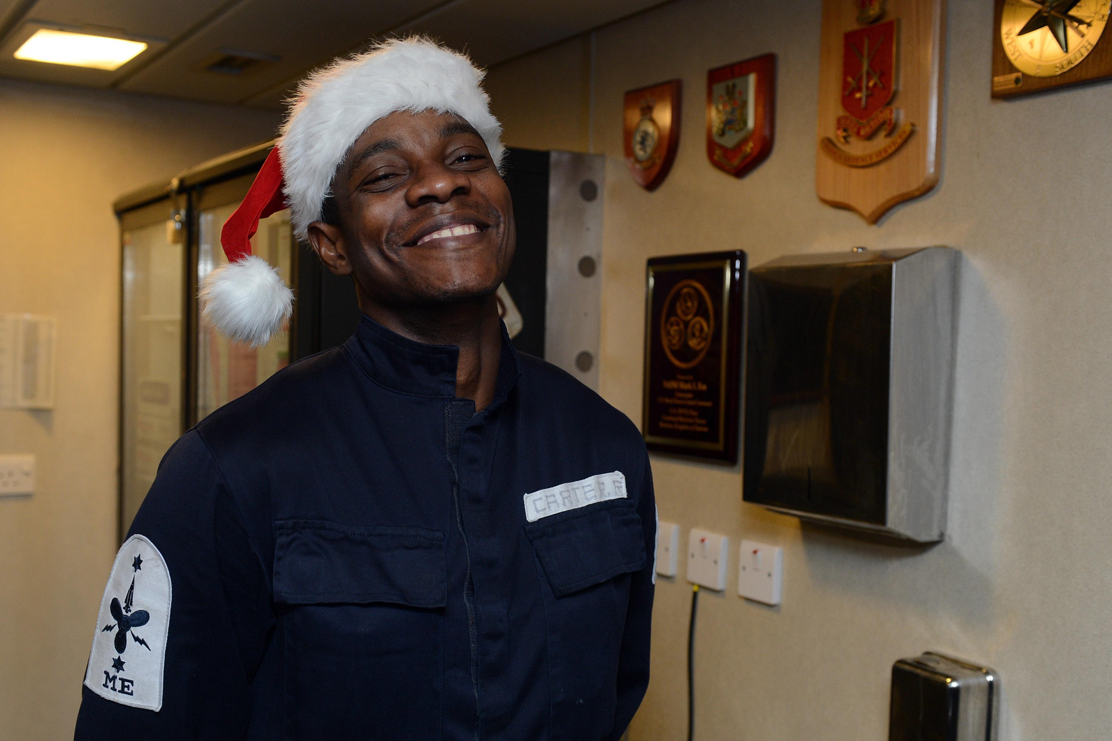 Carter HMS Daring Christmas