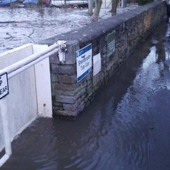 Flood barrier at Shirehampton