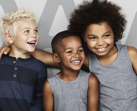 three little boys model for david beckham's H&M
