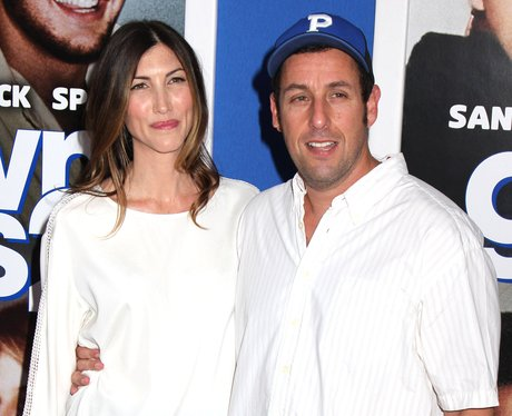 jackie and adam sandler on the red carpet